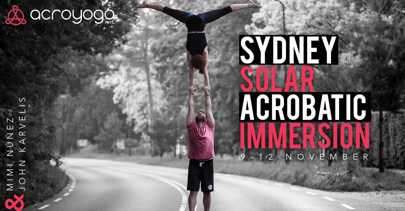 acroyoga Sydney solar immersion